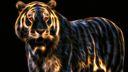 Tigre Fractalius Wallpaper