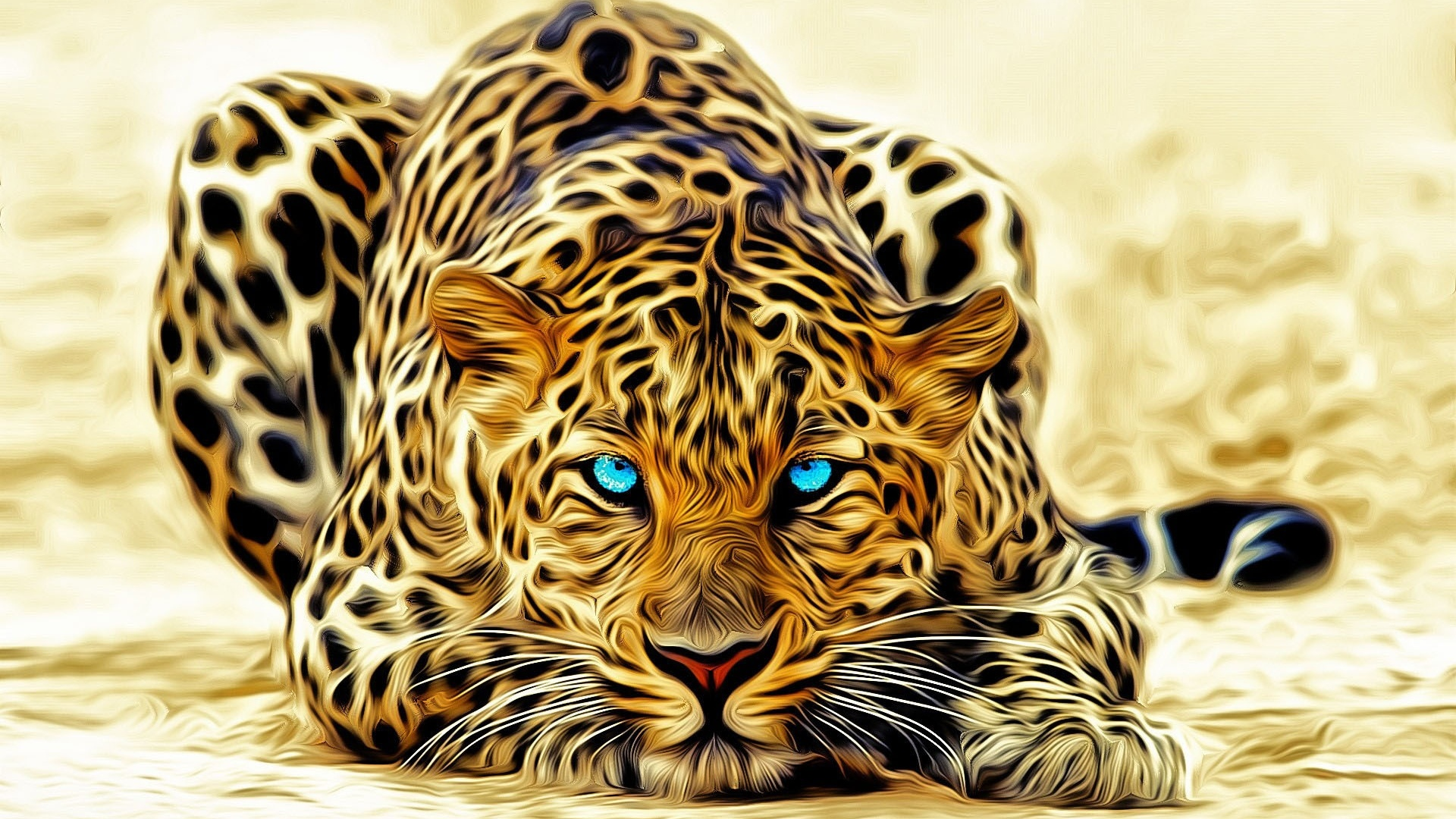 Favori Leopard artistique - fond ecran - 10 000 Fonds d'écran HD gratuits  HV67