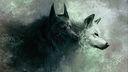 Loups fond ecran dessin