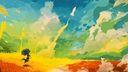Style abstrait nuages multicouleurs