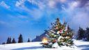 Sapin de Noël décoré, en fond écran HD