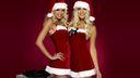 Duo mères Noël - fond d'écran