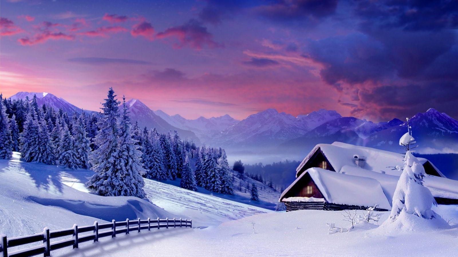 fond d'ecran hiver