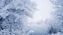 Arrière plan de bureau sur le thème de la neige