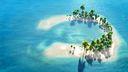 3D petite ile tropicale