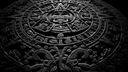Calendrier maya - Noir et blanc