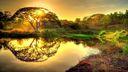Lac sauvage photographie