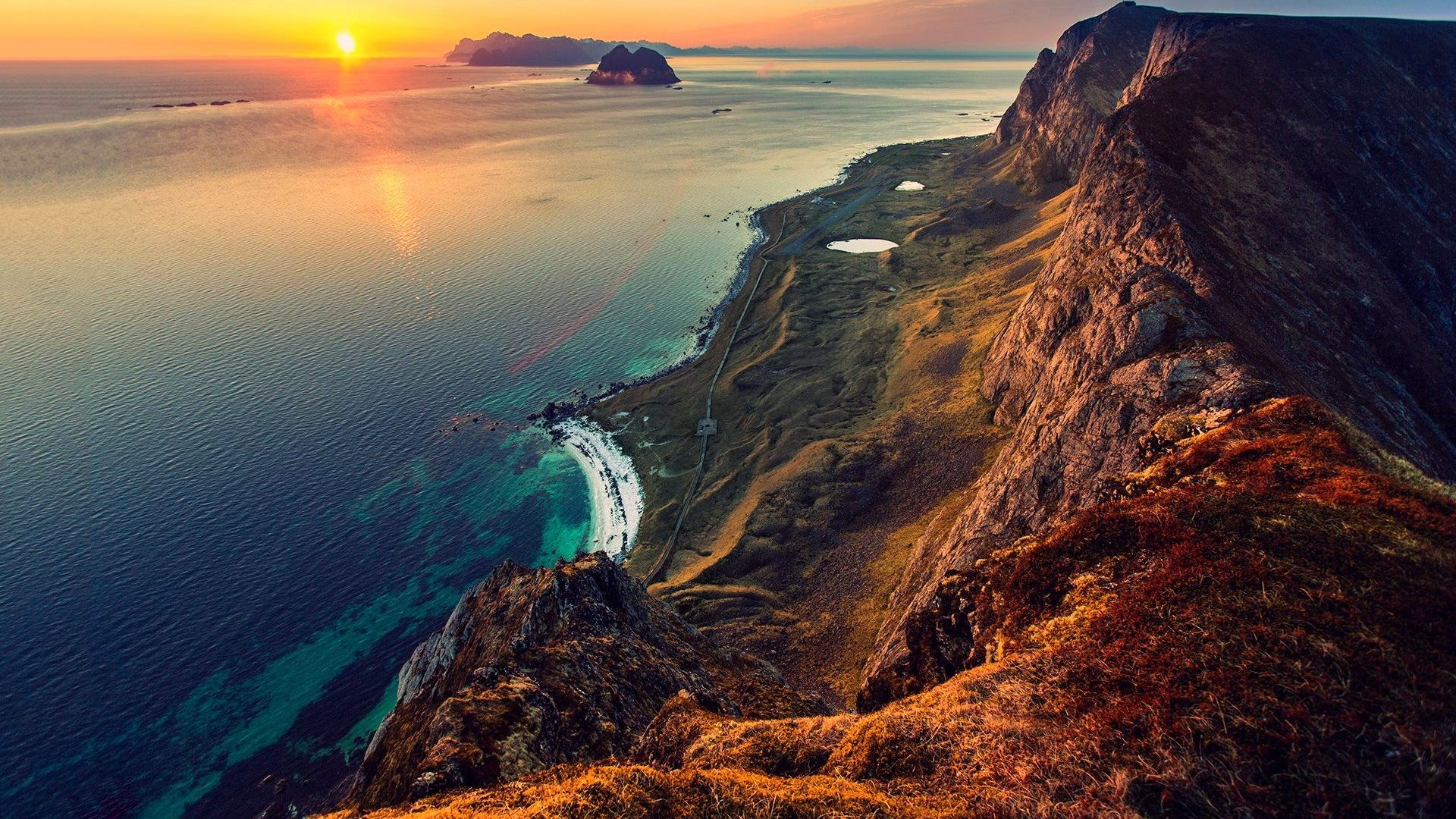 Coucher de soleil vu de montagne 10 000 fonds d 39 cran hd gratuits et de qualit wallpapers hd - Photo coucher de soleil montagne ...
